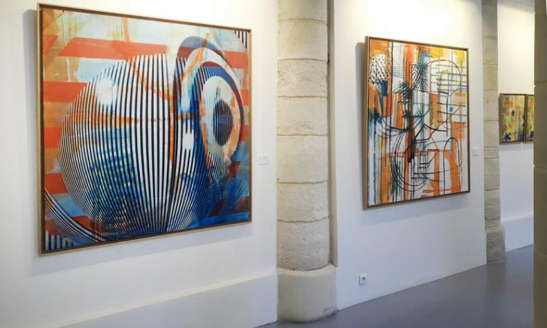 Exposition Stephane Trois Carres - Galerie Thierry Marlat (Avril 2019)